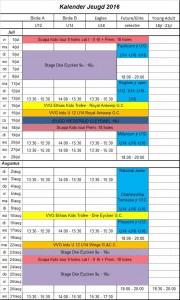 Kalender juniors 2016B
