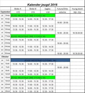 Kalender juniors 2016C