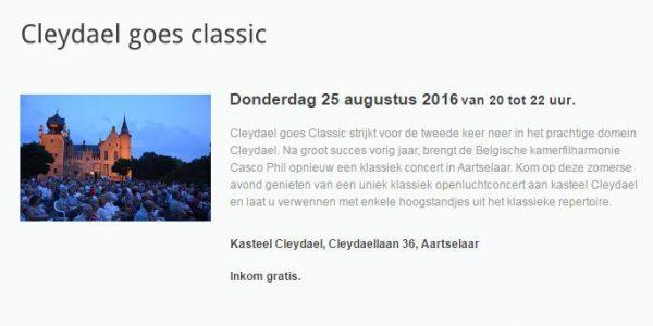 Cleydael goes Classic 2016