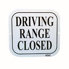 Driving range gesloten
